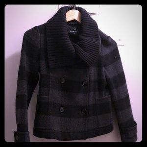 Theory Women's Plaid Wool/Cashmere Coat